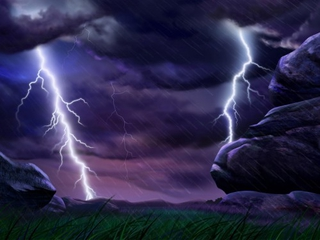 lightning - nature wallpaper - 320x240