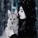winter, dogs - nature wallpaper - 128x128